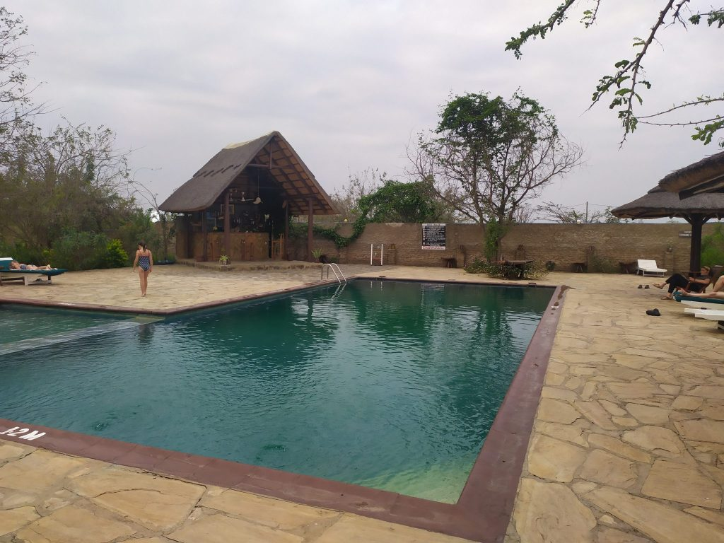 Un bañito después del safari.